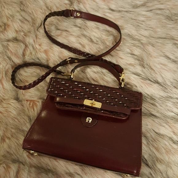 Etienne Aigner Handbags - VINTAGE AIGNER CROSSBODY OXBLOOD SATCHEL PURSE 91a6da4693e2f
